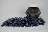 Dark Blue Metallic Flat Beads Fireglass