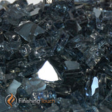 "1/4"" Gunmetal Gray Metallic Fireglass Crystals"