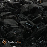 Jet Black Recycled Fireglass