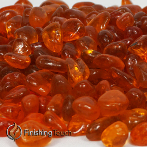 Sun Kissed Orange Fireglass Pebbles
