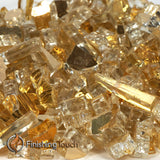 "1/2"" Casino Gold Metallic Fireglass Crystals"