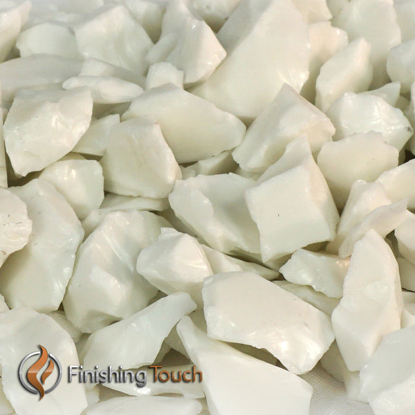 Ivory White Recycled Fireglass