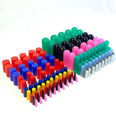 160pc High Temp Silicone Rubber Cap and Plug Masking Kit
