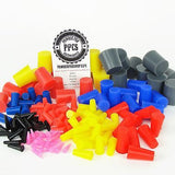 "235 Piece Plug Kit - 1/16"" to 1"" High Temp Silicone Rubber Powder Coating Paint Masking Set"