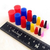 16pc High Temp Silicone Rubber Tapered Plug Kit Powder Coating Paint Masking