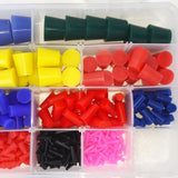 Pro Grade 502pc High Temp Silicone Rubber Stopper Plug Kit Powder Coating Paint