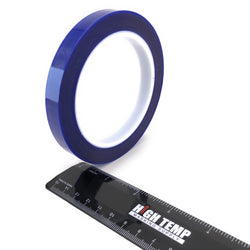 "1/2"" X 72 Yards HIGH TEMP Blue Polyester Masking Heat Tape Powder Coating Paint"