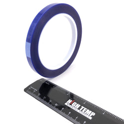 "3/8"" X 72 Yards HIGH TEMP Blue Polyester Masking Heat Tape Powder Coating Paint"