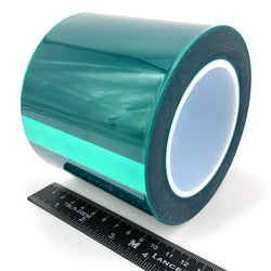 "4"" X 72 Yards HIGH TEMP Green Polyester Masking Heat Tape Powder Coating Paint"