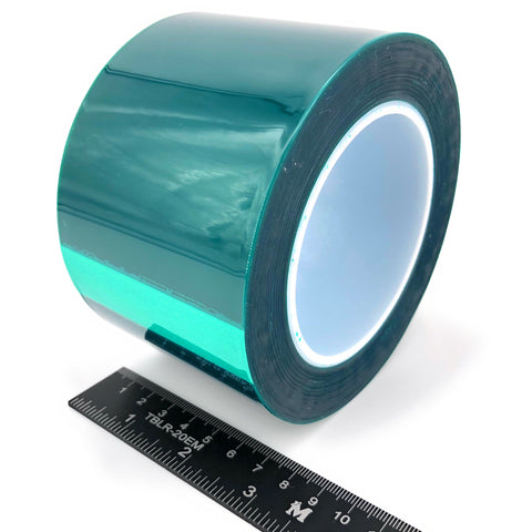 "3"" X 72 Yards HIGH TEMP Green Polyester Masking Heat Tape Powder Coating Paint"
