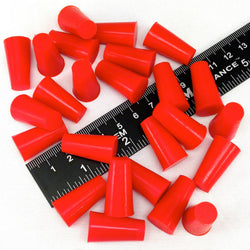 3/8 x 9/16 Inch High Temp Masking Supply Silicone Powder Coating Plugs