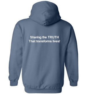 Tipton Ministry Logo, Sharing the Truth, Front/Back Print Hoodie, 12 Colors