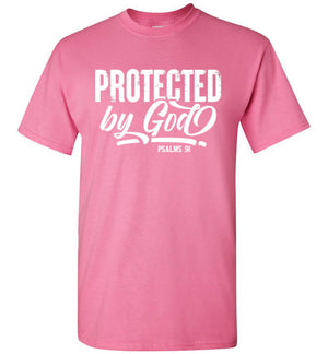 Protected by God, Psalms 91, Front Print T-Shirt, 12 Colors