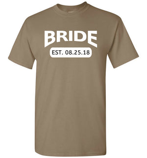 Wedding Style 4, Bride with Date, Front Print T-Shirt, 12 Colors