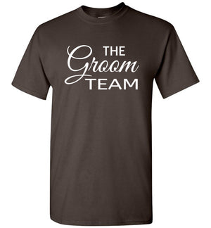 Wedding Style 3, Groomsmen, The Groom Team, Front Print T-Shirt, 12 Colors