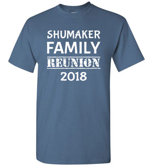 Family Reunion Style 1, Front Print T-Shirt, We'll Add Your Name & Year, 12 Colors