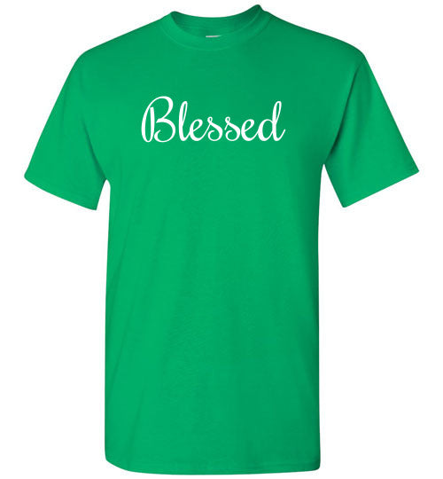 Blessed, Front Print T-Shirt - 10 Colors