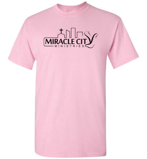 Miracle City Logo, Knows Your Name, Front & Back Print T-Shirt - 12 Colors
