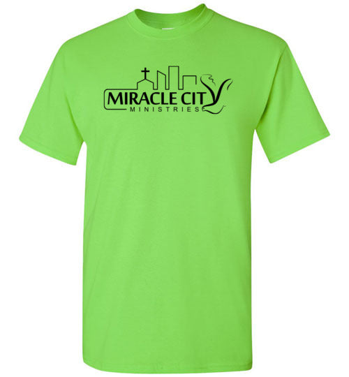 Short Sleeve T-Shirt, MC Logo on Front, Wording on Back (black letters) - 12 Colors