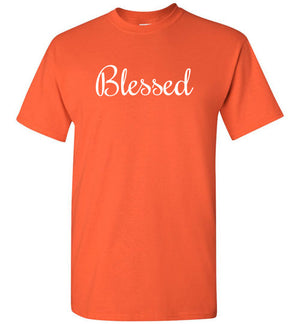 Blessed, Front Print T-Shirt, 10 Colors