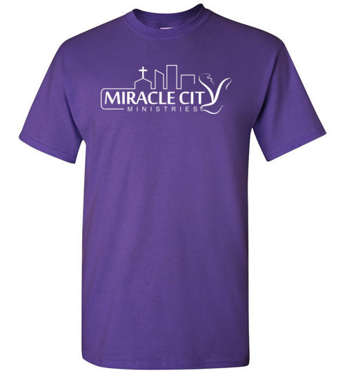 Miracle City Logo, Front Print T-Shirt - 12 Colors