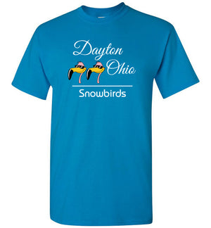 Snowbirds Style 3 (City & State on 2 Lines), Front Print T-Shirt, We'll Add Your Info, 12 Colors