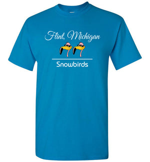 Snowbirds Style 2 (City & State on 1 Line), Front Print T-Shirt, We'll Add Your Info, 12 Colors