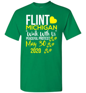 Flint, Walk With Us, Unisex T-Shirt, 12 Colors, Style 5
