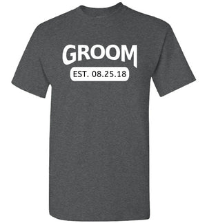Wedding Style 4, Groom with Date, Front Print T-Shirt, 12 Colors