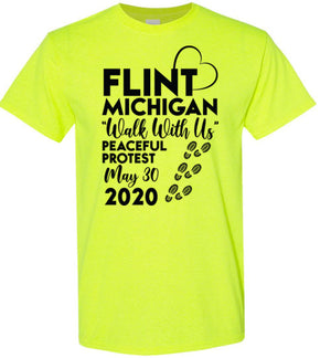 Flint, Walk With Us, Unisex T-Shirt, 12 Colors, Style 2