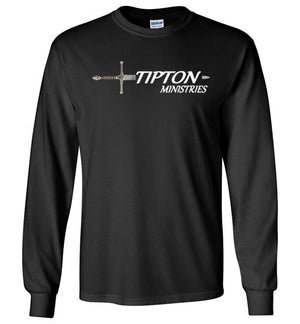 Tipton Ministry Logo, Sharing the Truth, Front/Back Print Long Sleeve T-Shirt, 12 Colors
