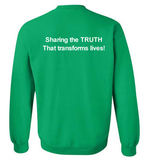 Tipton Ministry Logo, Sharing the Truth, Front/Back Print Sweatshirt, 12 Colors