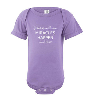 Jesus is With Me, Front Print Infant Fine Jersey Bodysuit - 10 Colors