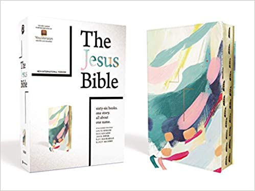 The Jesus Bible Artist Edition, Leathersoft, Multi-color/Teal, 9.5-Point Print, Indexed, NIV Version