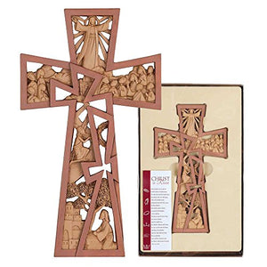 Pierced Stages of Christ, Resurrection, Resin Stone Wall Cross, 11""