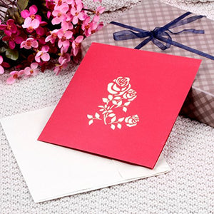 3D Pop Up Greeting Cards for All Occasions, 6 x 8 inches, Envelopes Included (4 Pack)