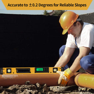 24-Inch Digital Torpedo Level and Protractor, Bright LCD Display with Carrying Bag