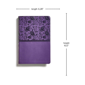 Rainbow Study Bible, LeatherTouch, Indexed, 9-Point Print, Purple, NIV Version
