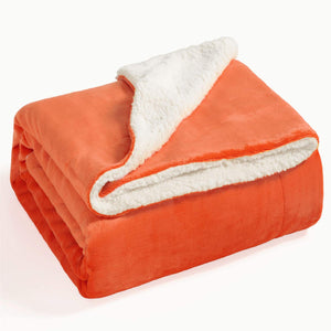 Sherpa Fleece Throw Blanket, Soft Microfiber, 12 Colors