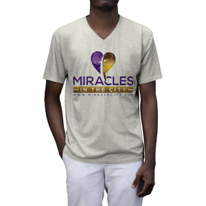 Miracles in the City, Tri-Blend V-Neck T-Shirt, 2 Colors