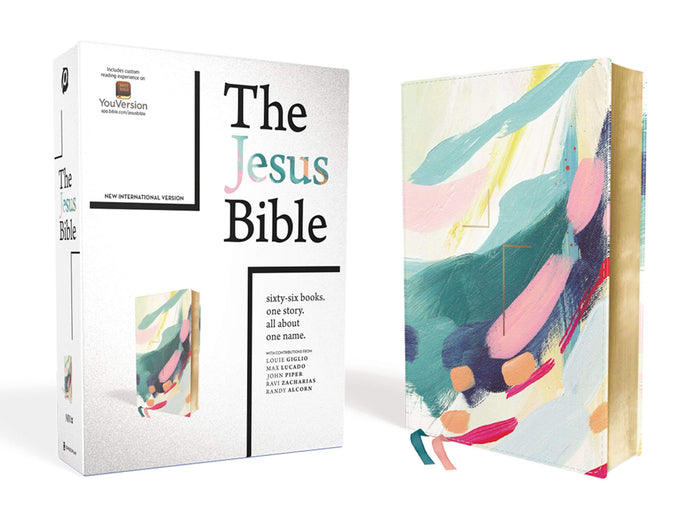 The Jesus Bible Artist Edition, Leathersoft, Multi-color/Teal, 9.5-Point Print, NIV Version