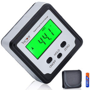 Digital Angle Finder, Magnetic Mini Level and Bevel Gauge, with Case