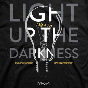 Light Up the Darkness, Adult T-Shirt, Color Black