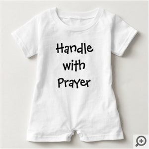 Handle With Prayer, Baby Romper - 5 Colors