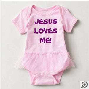 Jesus Loves Me, Baby Tutu Body Suit - 2 Colors