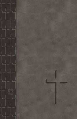The Passion Translation New Testament (2020 Edition) Large 11-Point Print, Imitation Leather, Gray