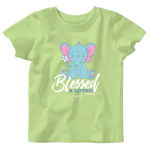 Blessed & Loved, Elephant T-Shirt, Psalms 127:3, Babies