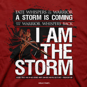 I Am the Storm, Psalms 56:4, Front & Sleeve Print, HOLD FAST T-Shirt