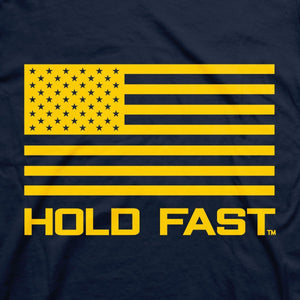 HOLD FAST, Anchor, Adult T-Shirt, Navy