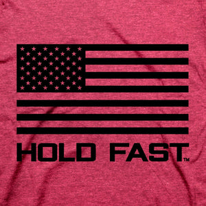 HOLD FAST, For God and Country, Adult T-Shirt, Red Heather